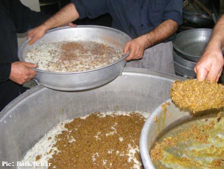 صاویری از آشپزان و کمک آشپزان محرم